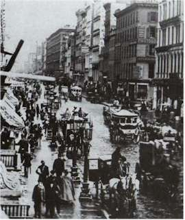 Broadway, New York City, in 1860