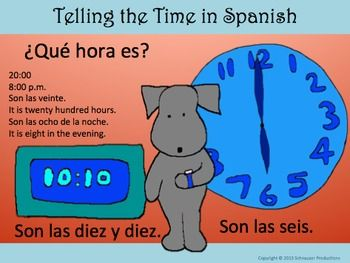 In this package Pepper provides booklets, quizzes and PowerPoint presentations for teaching how to tell the time in Spanish to both students in grades 1 - 4 (ages 6 - 9) and students in grades 3 - 8 (ages 8 - 13) either learning introductory Spanish 1 or reviewing in Spanish 2.