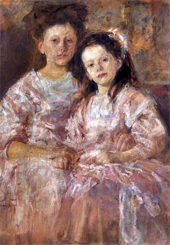 Portrait of Helena and Władysławy Chmielarczykówien (Portrait of girls), 1906, National Museum in Warsaw (NMW) Olga Boznańska (Polish, 1865–1940)