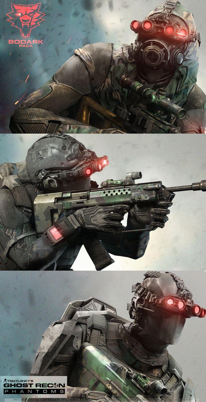ArtStation - Ghost Recon Phantom /Bodark Pack -All 3 Classes, Khan SevenFrames