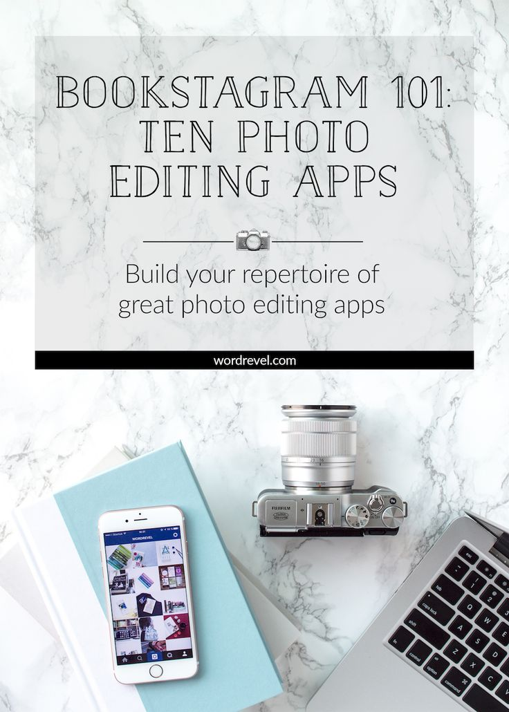 Bookstagram 101: Ten Photo Editing Apps | Let's dive into the tools that can help you make your bookstagram photos look amazing! To help you out, I linked each app name to its official website.