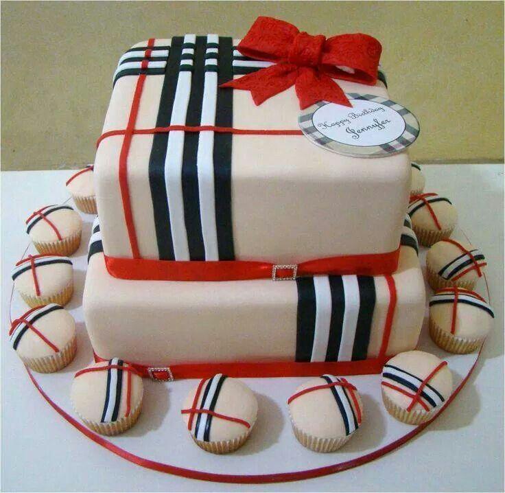 Classic Burberry Plaids Grace Cake