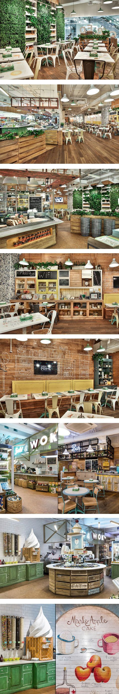 Obed Buffet fast-food restaurant by G-Sign, St. Petersburg – Russia.: