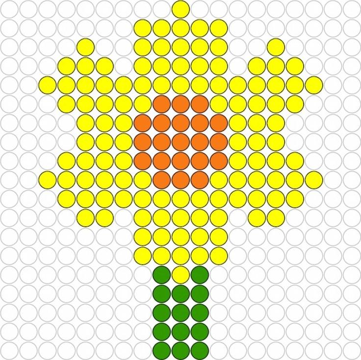 Narcissus hama perler beads