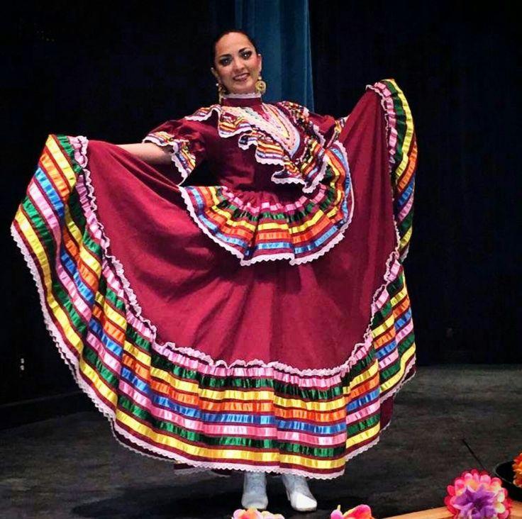 Jalisco folklorico dress coloring sheet