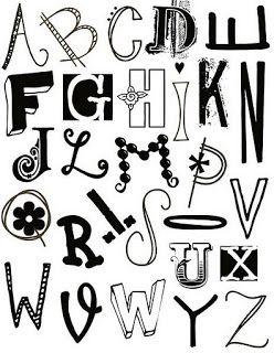 Abecedarios blanco negro para imprimir | Imagenes para imprimir.Dibujos para…