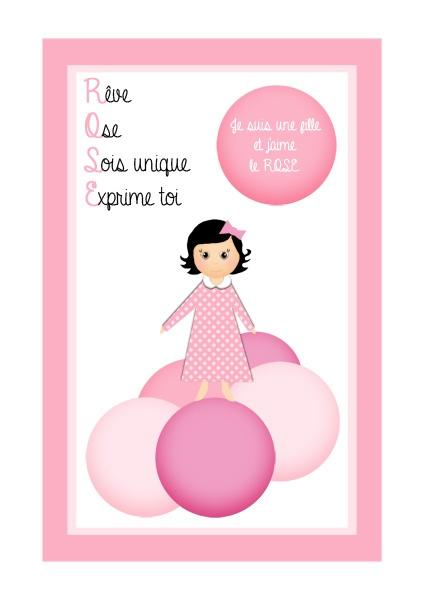 Je suis une fille et jaime le rose