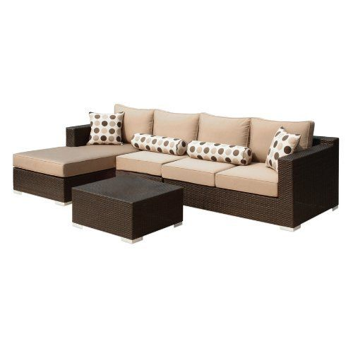 Naples Sectional Sofa Set by Caico by Caico Outdoor Furniture   1815 00   All aluminum frame. 61 best Garden   Patio Furniture Sets images on Pinterest