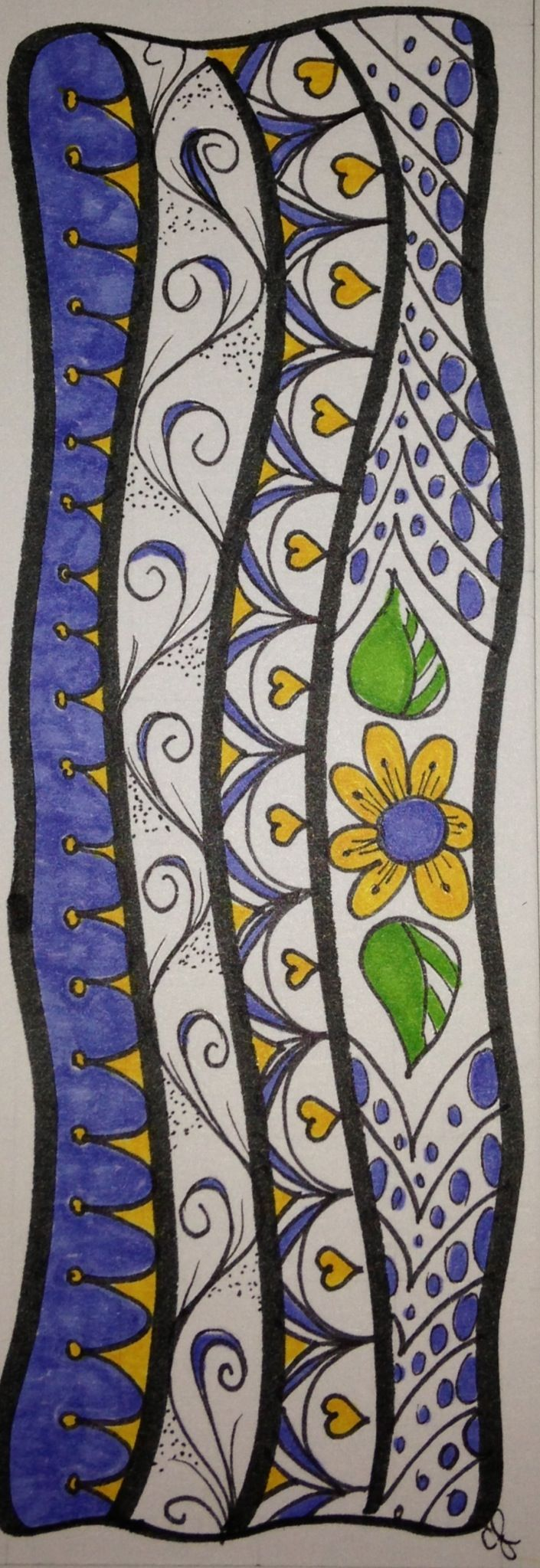 I love making bookmarks out of zen tangle / doodle art, they are so fun to print and give away!
