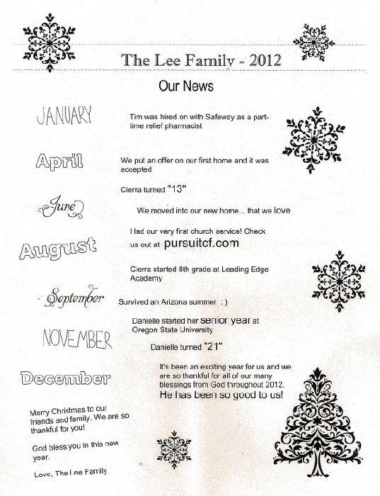 7 best Family christmas letters images on Pinterest Happy - christmas letter format