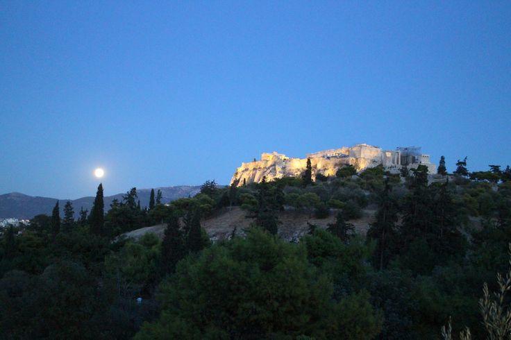 Acropolis at night Sep 2013