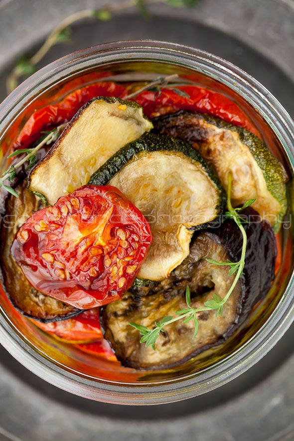 Marinated Roasted Eggplant, Zucchini and Tomatoes with Garlic and Thy ...