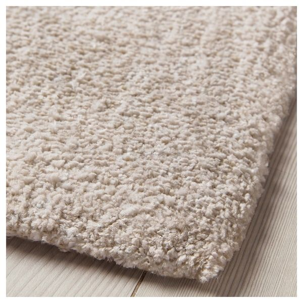tyvelse rug low pile  offwhite  ikea in 2020  soft