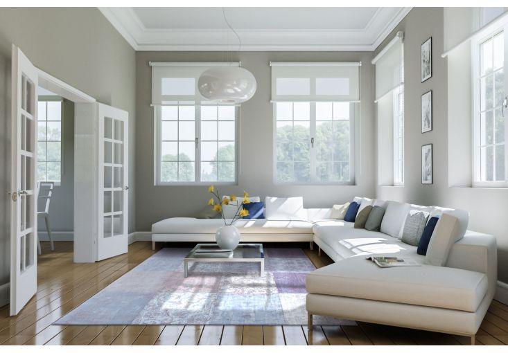 Dywany Very :: Dywan naturalny vintage patchwork 8372 Lavender - beżowo fioletowy - Carpets&More - wysokiej klasy dywany i akcesoria tekstylne