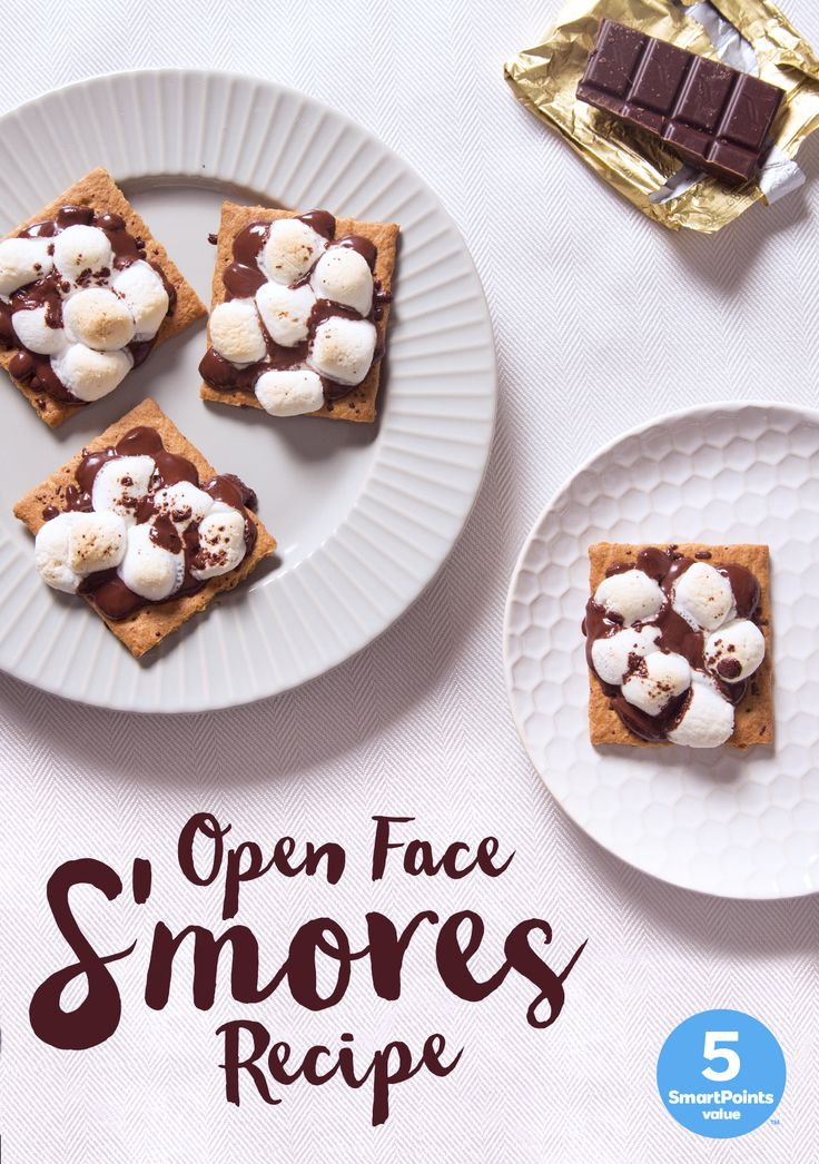 Searching for something SmartPoints friendly to satisfy a sweet tooth? Toast up this delicious (and gooey) Open Faced S'mores recipe!