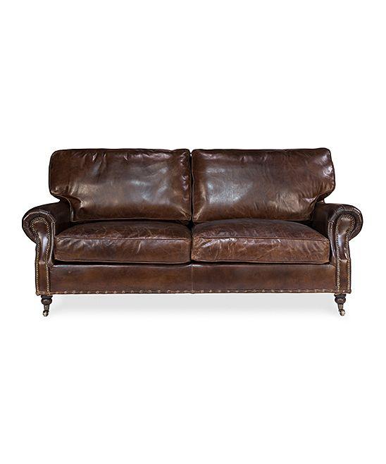 British chic mit chesterfield sofa : Sarreid ltd vintage cigar leather sofa sofas and ps