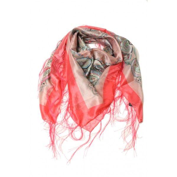 Sjaal Flower Spike - Prachtige zijdeachtige sjaal met een vrolijke zomerse print en nonchalante franjes. Een sjaal waar je vrolijk van wordt!