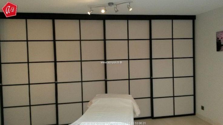 les 154 meilleures images propos de cloison japonaise coulissante et porte sur pinterest. Black Bedroom Furniture Sets. Home Design Ideas