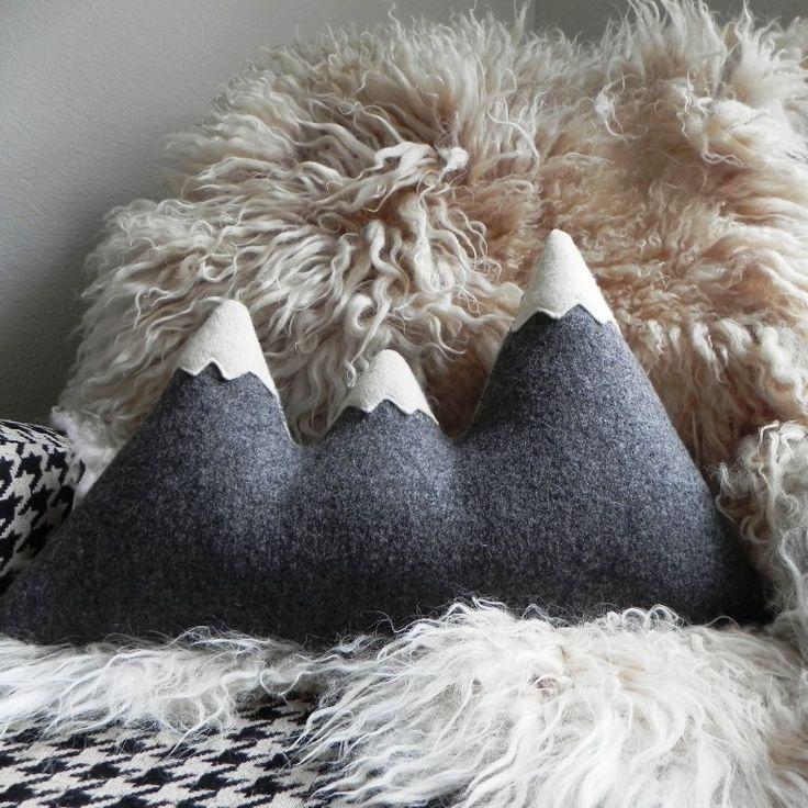 Sisters Mountain Range Pillow / Three Bad Seeds