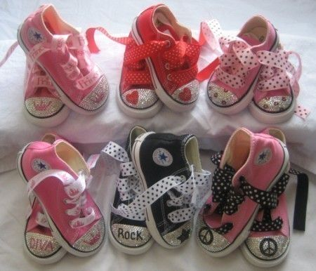 SWAROVSKI baby BLING CONVERSE Pink Diamond by princesspatch 0a4104595