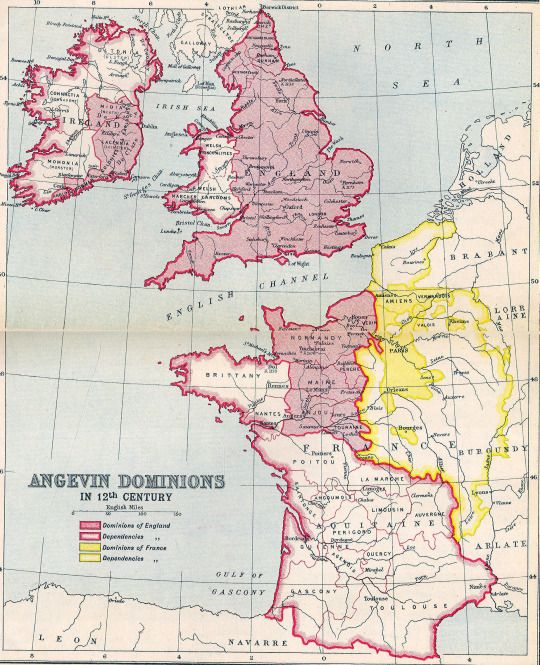 The Angevin Empire in the 12th century