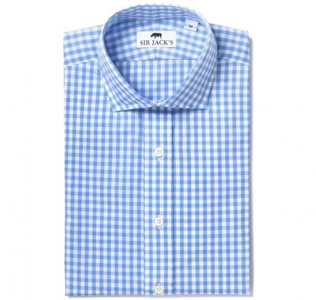 Sir Jack's - Clarendon Blue Gingham Shirt.