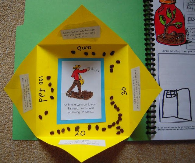 parable of the sower craft ideas 1000 images about lapbook on wordless book 7868