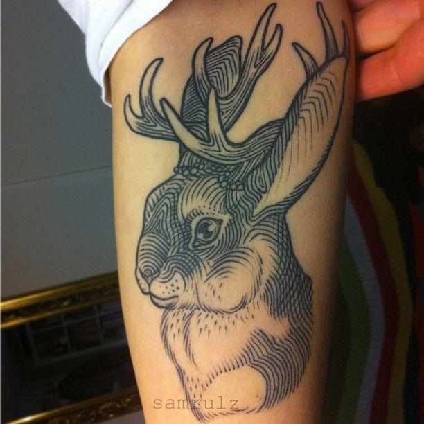 jackelope by sam rule #tattoos