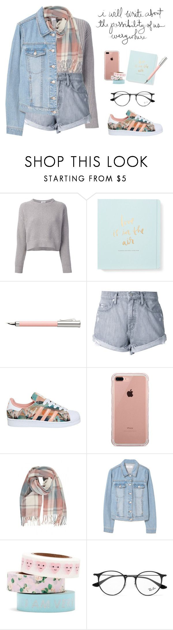 """""""Untitled #57"""" by kell-a ❤ liked on Polyvore featuring Brunello Cucinelli, Kate Spade, Faber-Castell, Nobody Denim, adidas, Belkin, MANGO, ban.do and Ray-Ban"""