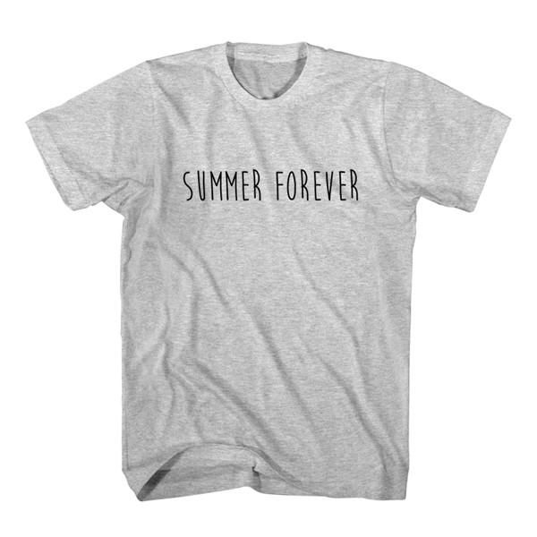 T-Shirt Summer Forever unisex mens womens S, M, L, XL, 2XL color grey and white. Tumblr t-shirt free shipping USA and worldwide.