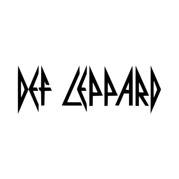 Def Leppard Logo Vinyl Decal Sticker BallzBeatz   com | all