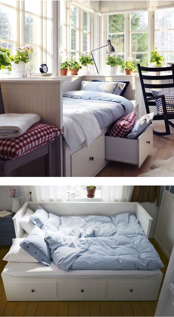 Ikea Daybed Turns Into Double Bed With 3 Storage Drawers