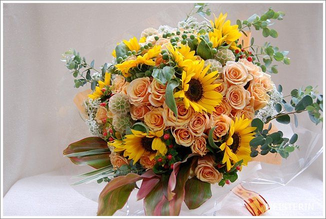 Bouquet of sunflowers ひまわりの花束