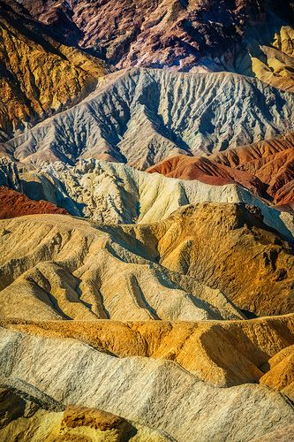 The Crazy Colors of Death Valley National Park... home of the hottest temperature EVER (something like 136°). Luckily, when I visited in November, it was only in the 80s! :) It is also home to the lowest place below sea level in North America!