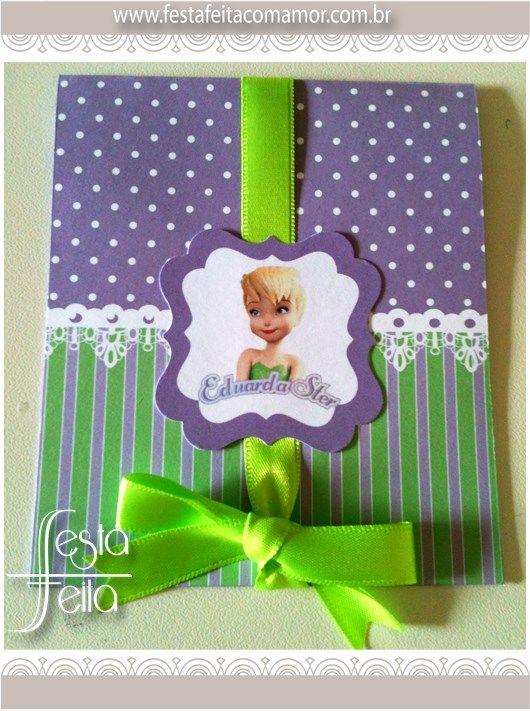 tinkerbell invitation www.festafeitacomamor.com.br  Paper goodies Papelaria para Festa da Tinkerbell (sininho) | Festa Feita! Papelaria personalizada para festas! Com Amor para você!