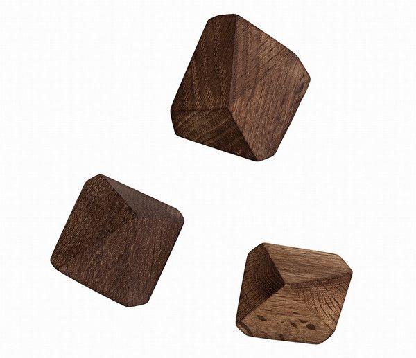 Ferm Living Shop — Diamond Hooks - Smoked Oak $75