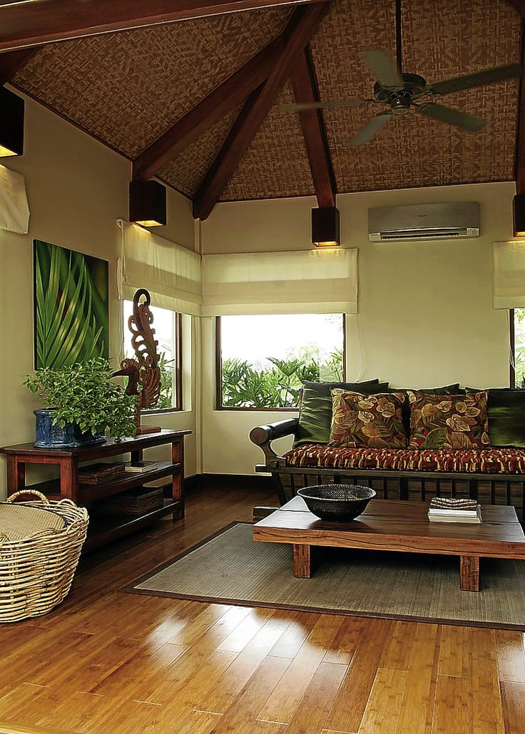 Modern filipino nipa hut House Interior | MAÑOSA Interiors' modern take on the relaxed Filipino home