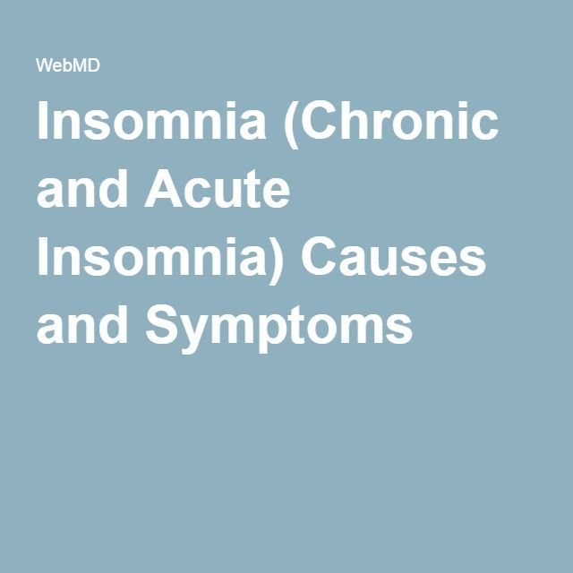 the cause of insomnia By definition, there is no known cause of primary insomnia disorder however, primary insomnia can result partly as a result of psychological conditioning in which a.