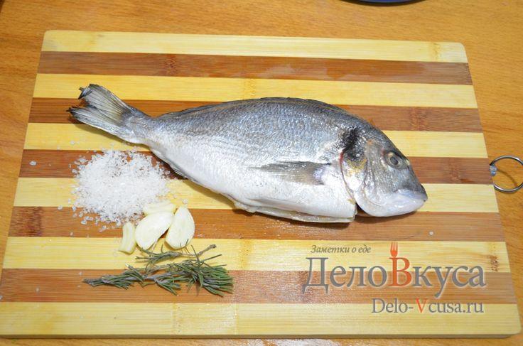 Дорада жареная с розмарином и #чесноком без масла #рыба #рецепты #деловкуса #готовимсделовкуса
