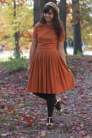 burnt orange vintage dress | Burnt Orange Dresses - How to Wear Burnt Orange Dresses - Page 3 ...
