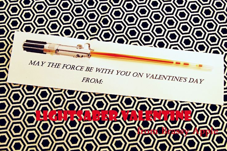 Star Wars Valentine with glow stick - this one screams Seth. Now I've got too many options for him. I guess I could let HIM pick from my suggestions.