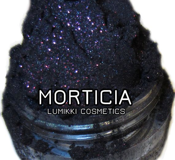 Morticia Purple Glitter Shimmer Mineral Halloween Gothic Eyeshadow Mica Pigment 5 Grams Lumikki Cosmetics on Etsy, $6.56 CAD