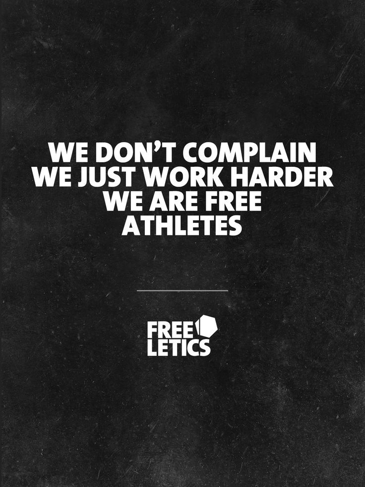 Complaining will not help us on our road to success. That is why we don't do it. We are Free Athletes and we work on achieving our goals ► www.frltcs.com/Motivate #Freeletics
