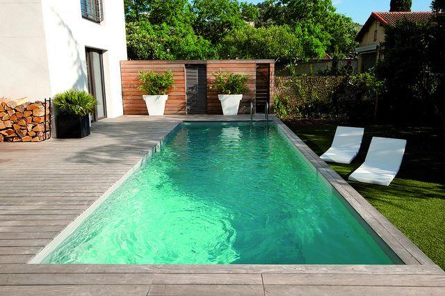 Couloir de nage liner gris clair nos piscines pinterest - Couloir de nage desjoyaux ...