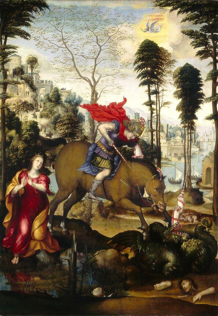 Содома. Св. Георгий. 1518 г. Национальная галерея, Вашингтон.