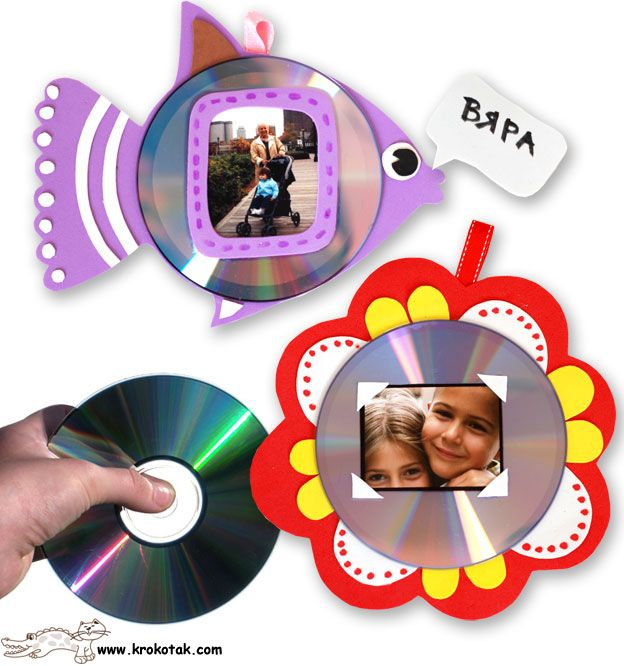 Kids' Photo Frames - FROM OLD CDs