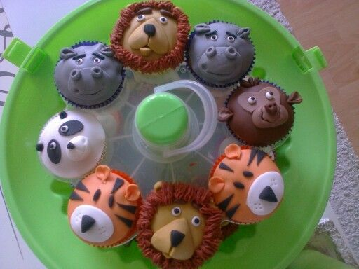 De dierentuin cupcakes