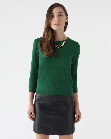 Zip Back Cropped Sweater #JigsawAW14