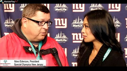 MarblePlayTV: Special Olympics NJ, NY Giants, Marc Edenzon, Lawrence Tynes and Jeannette Josue at the 6th Annual SONJ Snow Bowl at Metlife S...