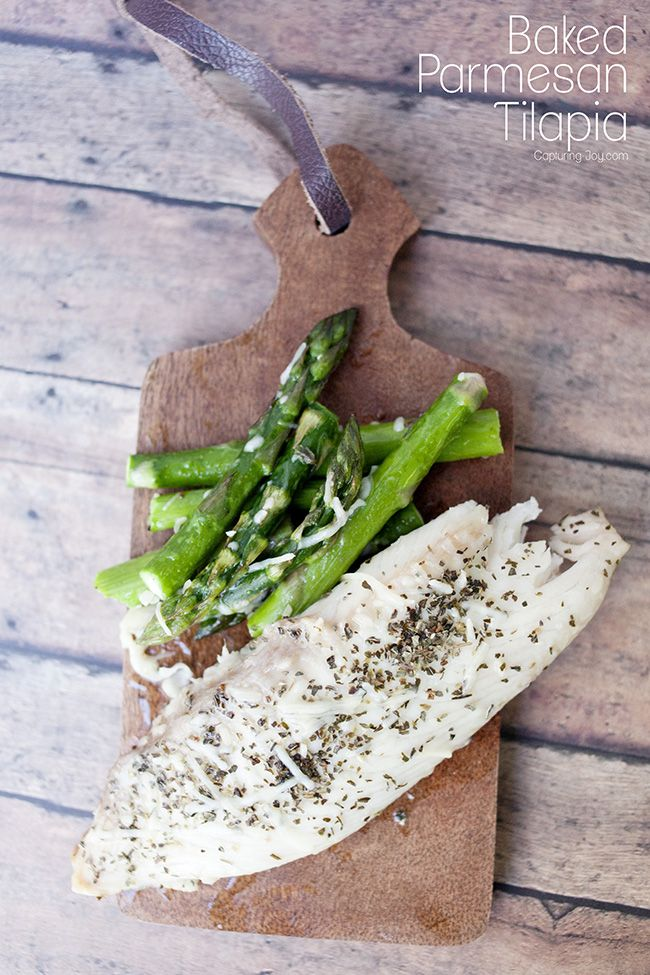 Discover how quick, easy and healthy cooking fish for dinner can be with this BAKED PARMESAN TILAPIA recipe that the whole family will love, even the kids! recipe at TidyMom.net